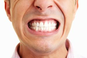 Showing the teeth